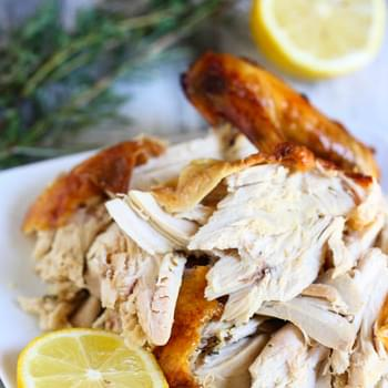Classic Roast Chicken with Lemon and Herbs