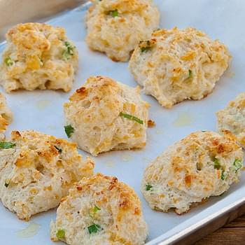Cheddar, Garlic and Green Onion Biscuits