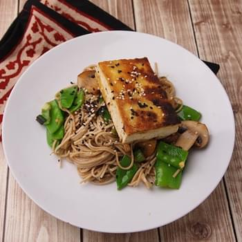 Miso Glazed Tofu with Soba