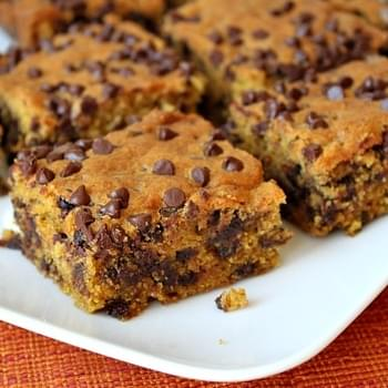Pumpkin- Chocolate Chip Squares