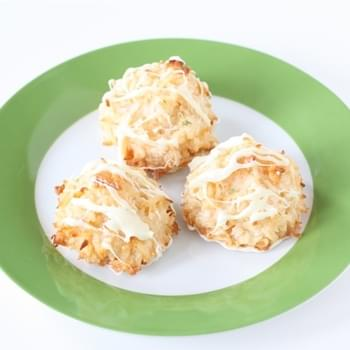 Coconut Lime Macaroons with White Chocolate