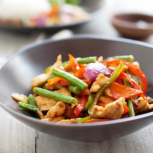 Spicy Chicken Stir-Fry (Ayam Paprik)