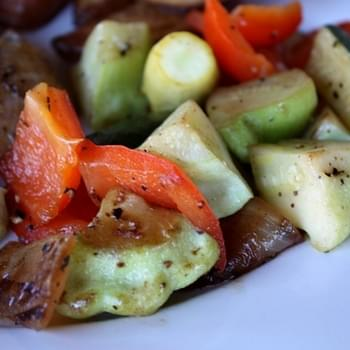 Sauteed Summer Squash with Bell Peppers and Onion