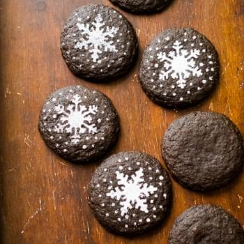Soft Dark Chocolate Gingersnap Cookies