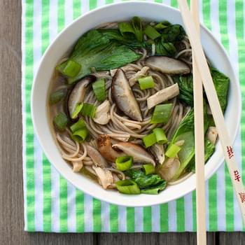 Mushroom, Chicken and Soba Noodle Soup