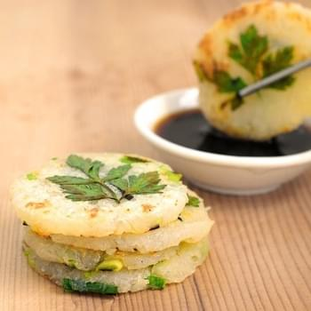 Mini Potato Pancakes with Green Garlic and Chives