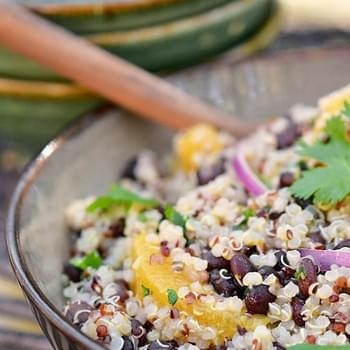 Quinoa and Black Bean Salad with Citrus-Coriander Dressing
