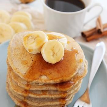 Whole Wheat Peanut Butter-Banana Pancakes