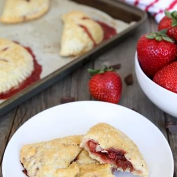 Strawberry Dark Chocolate Hand Pies