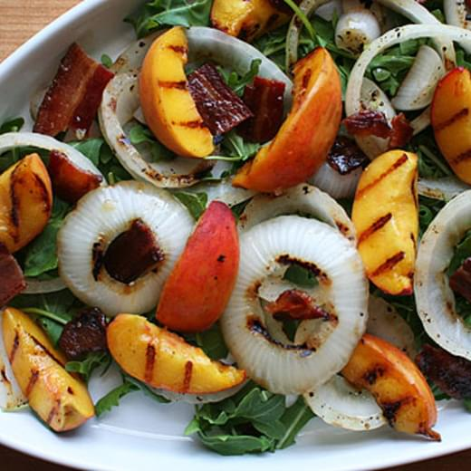 Peaches, Onions and Bacon