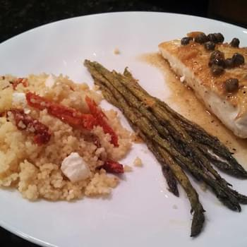 Halibut with a Caper Butter Sauce
