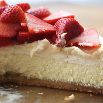 Layered Lemon Cheesecake with Brown Sugar Almond Crust