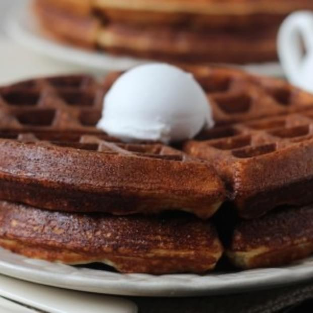 Light and Crispy Vanilla Protein Waffles