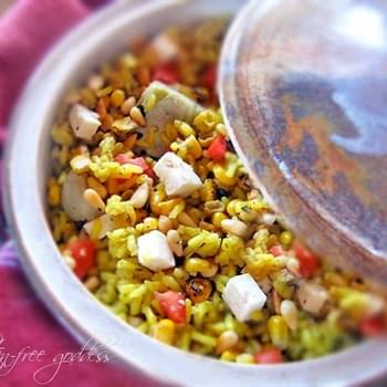 Pinon Rice Bake Recipe with Artichokes, Plum Tomatoes, Pine nuts and Goat Cheese