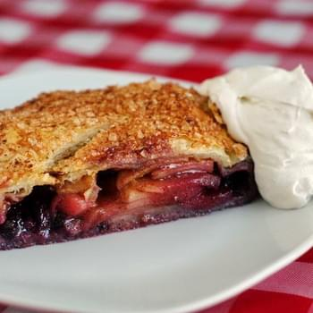 Easy Blueberry Apple Strudel