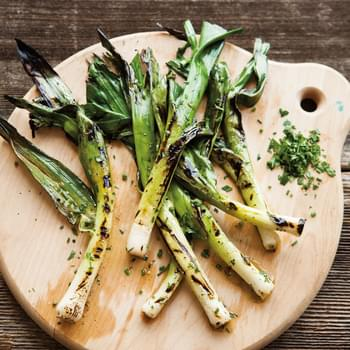 Grilled Baby Leeks with Chervil & Chives