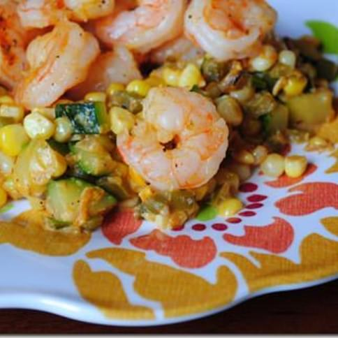 Shrimp & Sweet Corn Maque Choux
