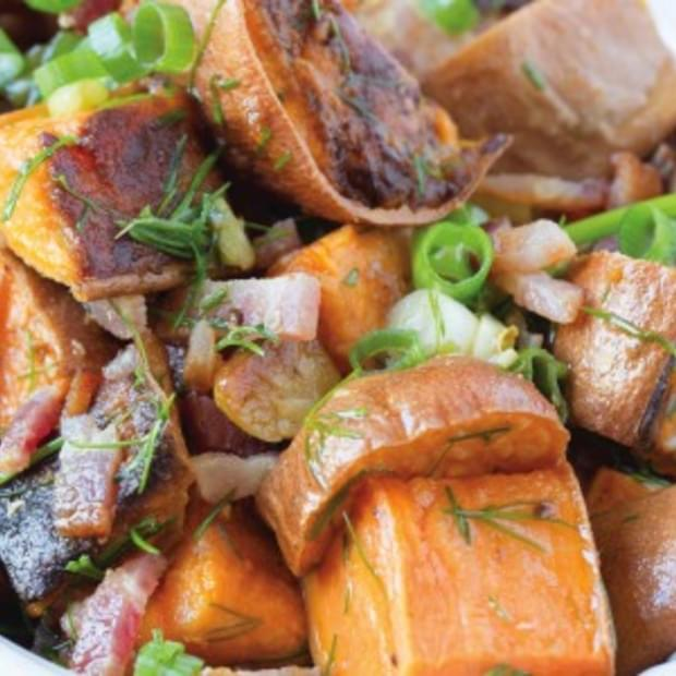Bacon Lime Sweet Potato Salad