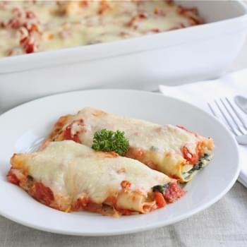 Spinach Mushroom Cannelloni