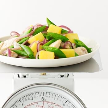 Stir-Fried Chicken with Mango, Sugar Snap Peas and Jalapeño