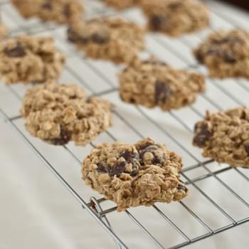 Low Fat Chocolate Chip Banana Cookies