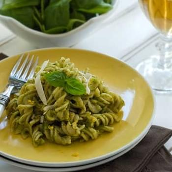 Gluten Free Pasta with Pistachio Pesto