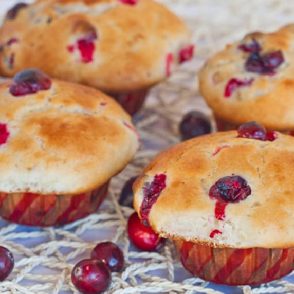 Cranberry and Banana Muffins