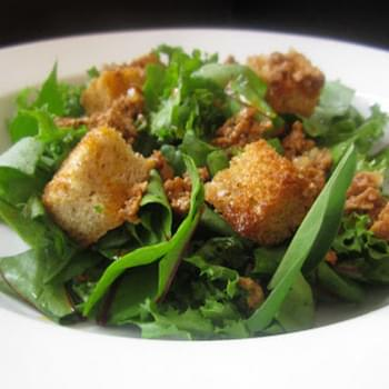 Winter Green Salad with Chorizo Vinaigrette