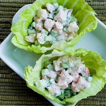 Shrimp Salad Cabbage Cups