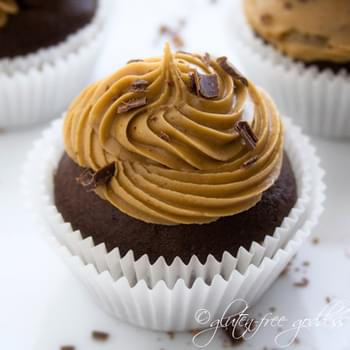 Gluten-Free Chocolate Cupcakes with Coffee Icing