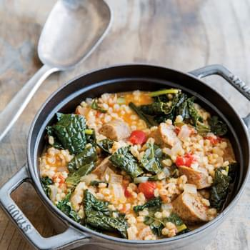 Kale, Turkey Sausage and Barley Stew