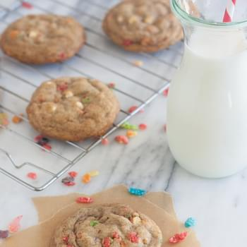 Brown Butter Fruity Pebble Crunch Marshmallow Cookies