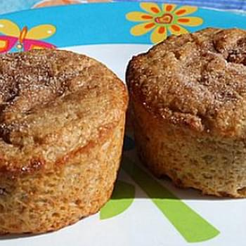 Low Fat Strawberry- Cinnamon Muffins