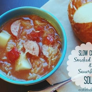 Slow Cooker Smoked Sausage and Sauerkraut Soup