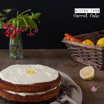 Gluten Free Carrot Cake with Lemon Cream Cheese Frosting