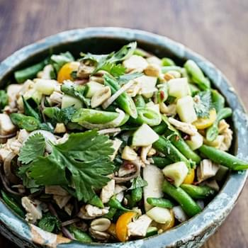 Buckwheat Noodles with Green Beans & Toasted Sesame-Lime Vinaigrette