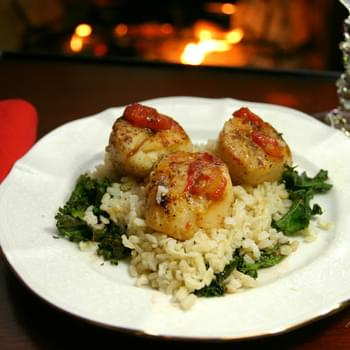 Seared Scallops with Blood Orange Glaze