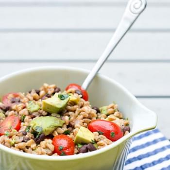 Black Bean and Farro Salad with Cumin-Lime Vinaigrette