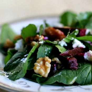 Arugula Salad with Beets and Goat Cheese