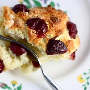 Cherry Vanilla Breakfast Cake