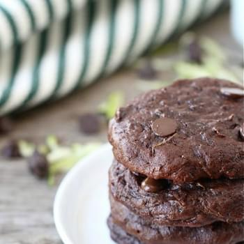 Chocolate Fudge Zucchini Cookies