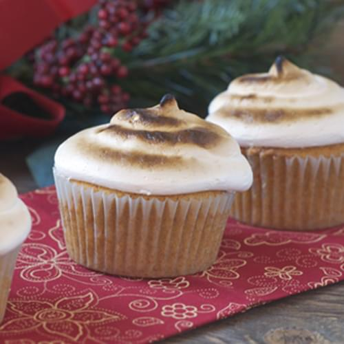 Sweet Potato Cupcakes w/ Toasted Marshmallow Frosting