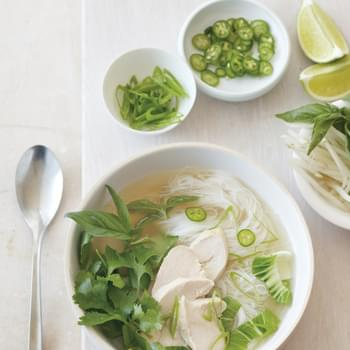 Asian-Style Chicken Soup with Baby Bok Choy