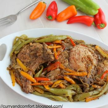 Pepper and Onion Skillet Pork Chops