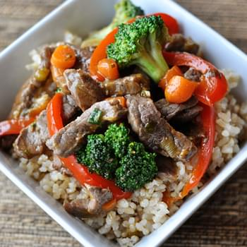 Orange Beef and Veggie Stir Fry