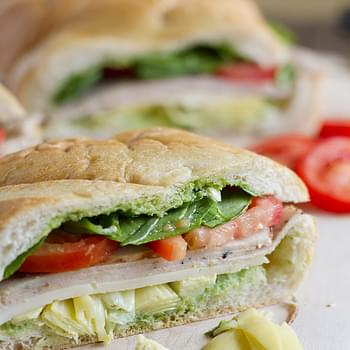 Turkey, Artichoke and Basil Subs