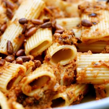 Rigatoni with Eggplant Puree