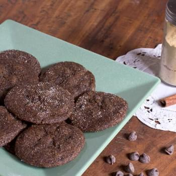 Chewy Chocolate Gingersnap Cookies