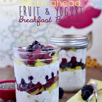 Make-Ahead Fruit & Yogurt Breakfast Parfaits