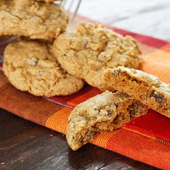 Low-fat Pumpkin Spiced Chocolate Chip Cookies